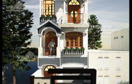 mẫu nhà phố 3 tầng 5x23m tân cổ điển