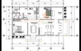 thiết kế nhà cấp 4 đẹp diện tích 95m2